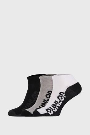 3 PACK černošedých ponožek Dunlop