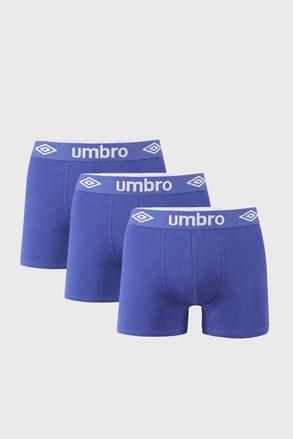 3 PACK modrých boxerek Umbro BIO