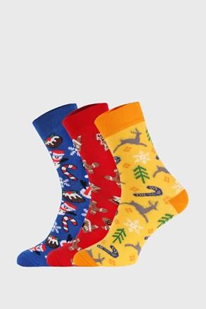 3 PACK vánočních ponožek II