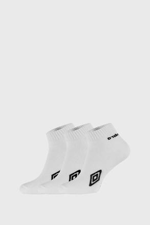 3 PACK бели чорапи до глезена Umbro