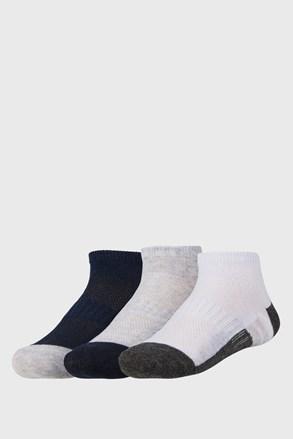 3 pack dětských nízkých ponožek Basic