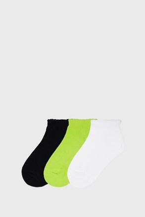 3 PACK nízkých dívčích ponožek Mayoral Limetka