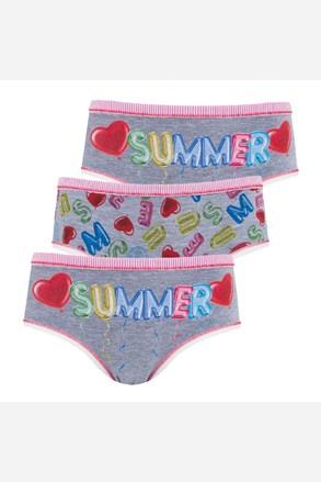 3 pack dívčích kalhotek Summer
