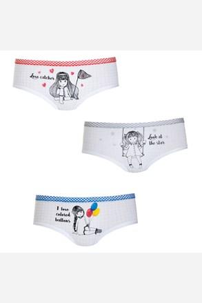 3 pack dívčích kalhotek Girls
