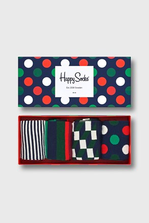 4 PACK чорапи Happy Socks Big Dot