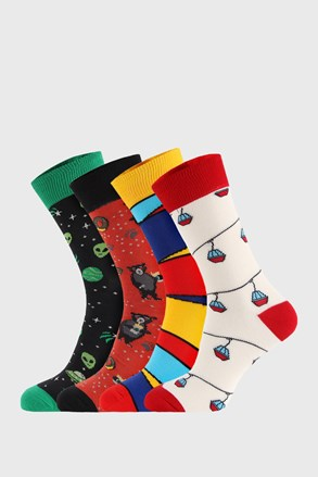 4 PÁR zokni Bellinda Crazy Socks Alien