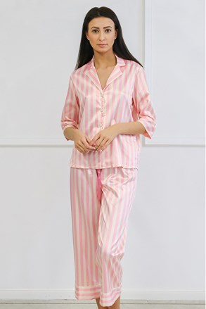 Pijama dama Ashley lung, din satin