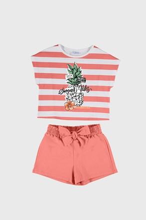 Komplet dívčího trička a šortek Mayoral Summer Vibes