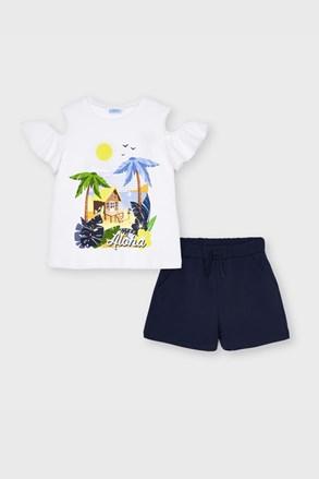 Komplet dívčího trička a šortek Mayoral Aloha
