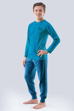 Chlapecké pyžamo Atlantic petrolejové