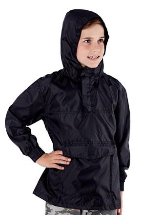 Dětská bunda v kapse ProClimalite černá nepromokavá