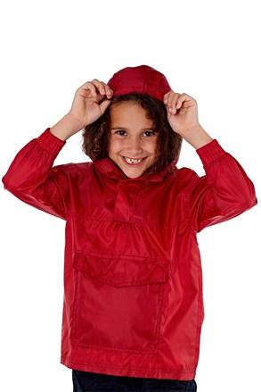 Dětská bunda v kapse ProClimalite červená nepromokavá