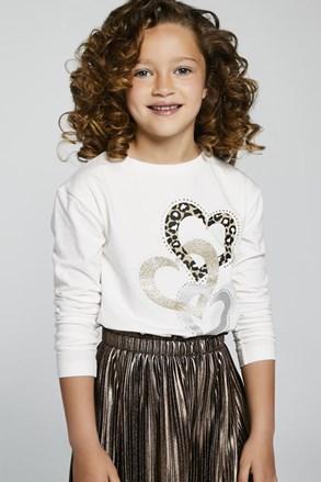 Dívčí tričko s dlouhým rukávem Mayoral Hearts