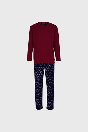 Bordó-kék pizsama Tom Tailor Deer