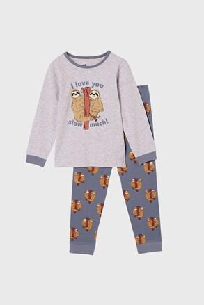 Chlapecké pyžamo Lenochod dlouhé