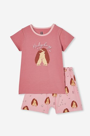 Dívčí pyžamo Hedgehog hugs krátké