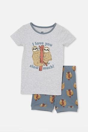 Chlapecké pyžamo Lenochod krátké