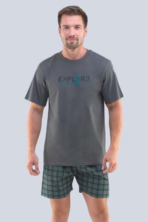 Khaki férfi pizsama Neil