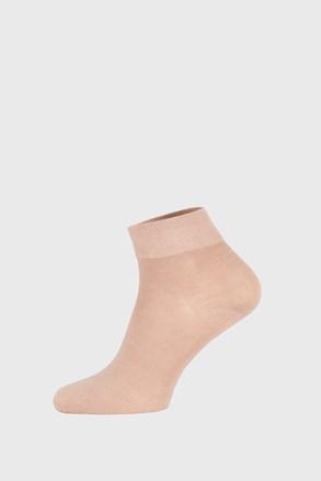 Béžové ponožky Bamboo středně vysoké