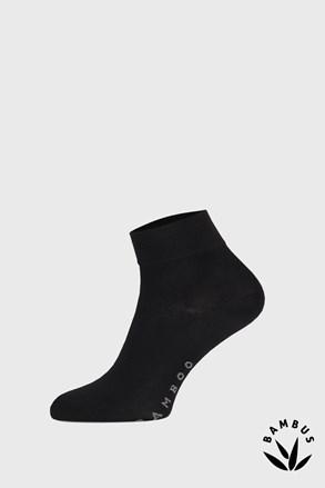 Černé bambusové ponožky středně vysoké