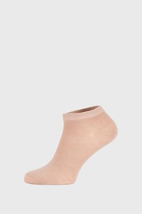 Béžové bambusové ponožky nízké