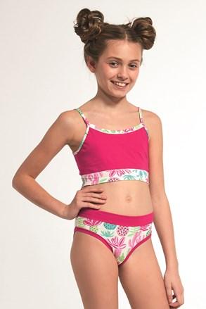 Komplet majice i gaćica za djevojčice ružičasti