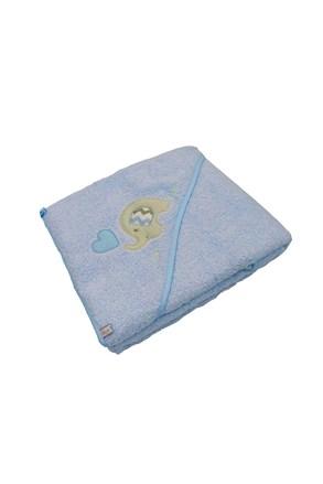 Prosop pentru bebelusi Blue Kids, elefant albastru
