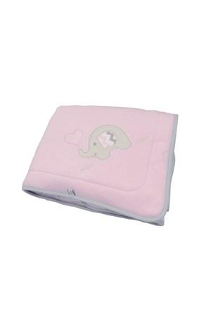 Dětská deka Blue Kids růžový slon