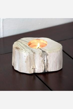 Svícen zkamenělé dřevo světlý