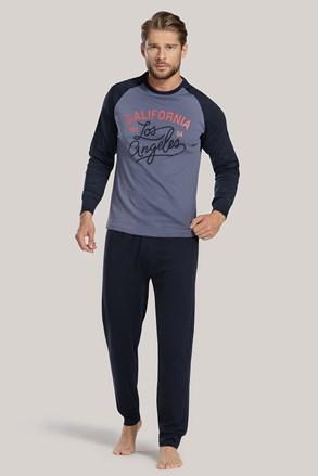 Pánské pyžamo modré s nápisem