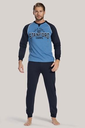Pánské pyžamo tmavě modré s nápisem