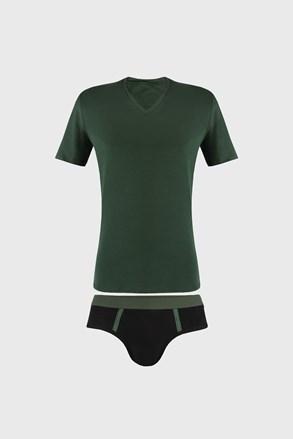 Komplet męski: Slipy i T-shirt Raw Man zielone