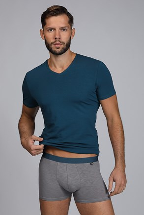 Pánský SET tričko a boxerky Raw man modrozelené