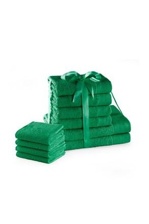 10 db-os törölköző garnitúra Amari Family zöld