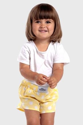 Dětské trenýrky ELKA LOUNGE Žlutý puntík
