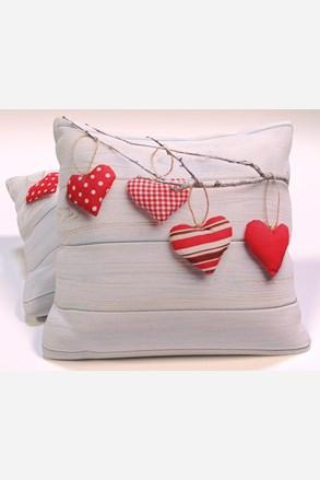 Dekorační polštář Vintage Hearts