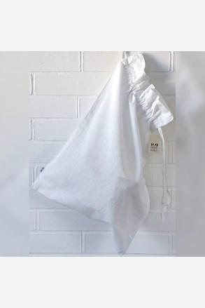 Pytel na prádlo lněný bílý