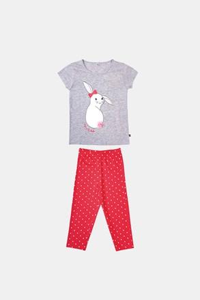 Dívčí pyžamo Buny šedooranžové