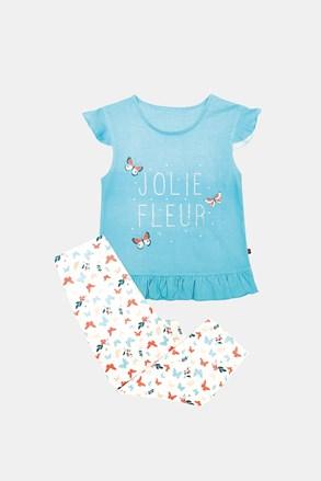 Dívčí pyžamo Lila modré