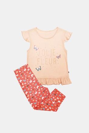 Dívčí pyžamo Lila oranžové