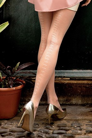 Vzorované punčochové kalhoty Brigitte 11
