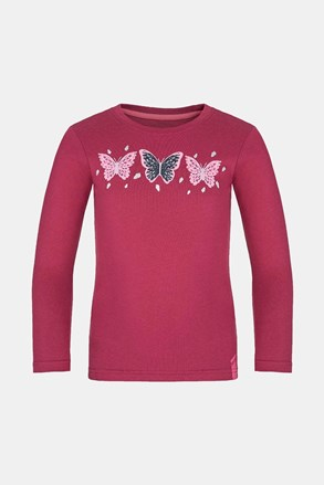 Dívčí tričko LOAP Bifie tmavě růžové