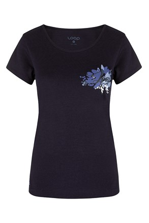 Γυναικείο μπλε μπλουζάκι LOAP Astraia