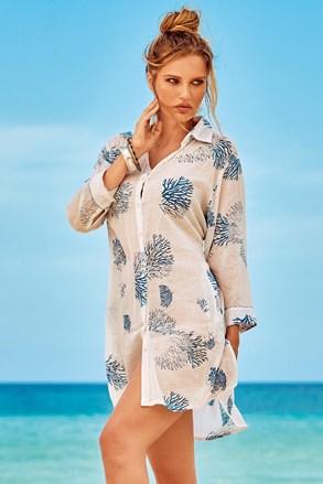 Plážové košilové šaty Madeira bílé