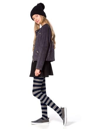 Dívčí bavlněné punčocháče Delycy modré
