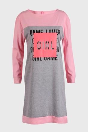Dívčí noční košile Lover šedá