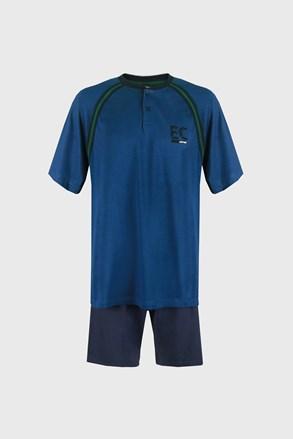 Modré pyžamo Casey PLUS SIZE