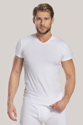 Pánské tričko V neck bílé
