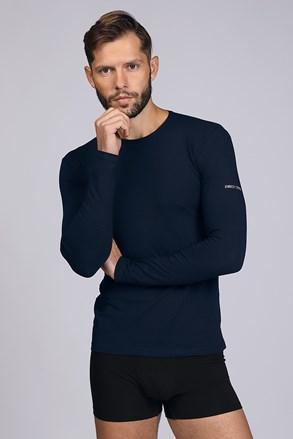 Tmavěmodré tričko s dlouhým rukávem