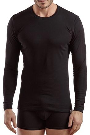 Pánské tričko s dl.rukávem E.Coveri 1204 černé